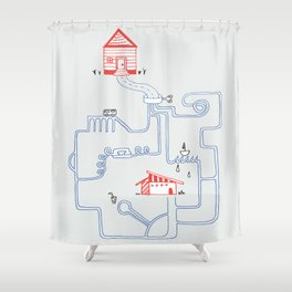 All Roads Lead to Your House Shower Curtain