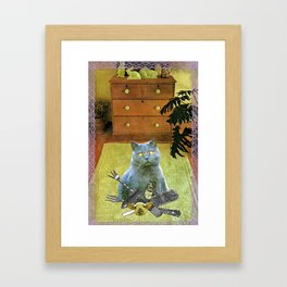 I had to get my own dinner handcut collage Framed Art Print