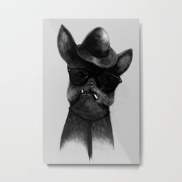 French Dog Blues Metal Print