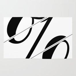 """Sliced Collection"" - Minimal Percent Sign Print Rug"