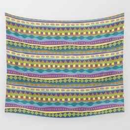 Stripey-Jardin Colors Wall Tapestry