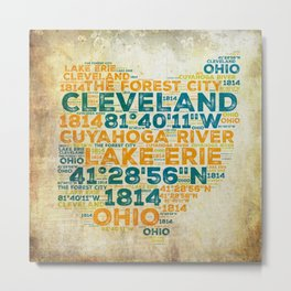 Cleveland is in Ohio Metal Print