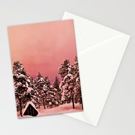 Magic of frozen forest Stationery Cards