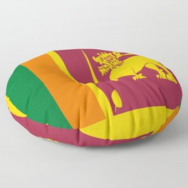 Flag of sri Lanka -ceylon,India, Asia,Sinhalese, Tamil,Pali,Buddhist,hindouist,Colombo,Moratuwa,tea Floor Pillow