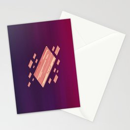 A Fleet of Baconships Flying Through Baconspace Stationery Cards