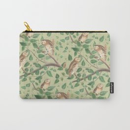 FOREST OWLS & PALE GREEN Carry-All Pouch