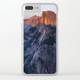 Sunkissed Half Dome at Sunset Clear iPhone Case