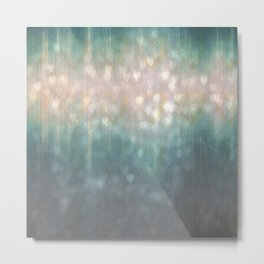 Evening Glowing Lights Abstract Metal Print