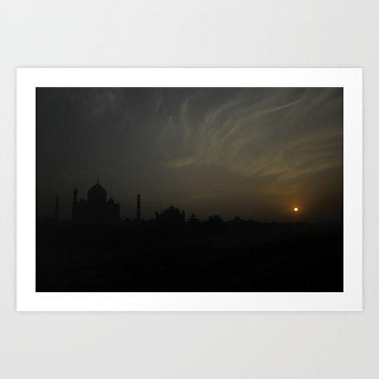 Taj by night Art Print