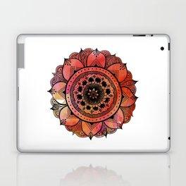 Hand Drawn Mandala Print | Bright Red Mandala Print | Aztec Mandala | Zentangle Mandala | Mandala  Laptop & iPad Skin