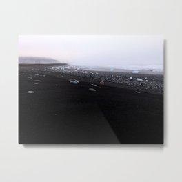 Iceland black beach Metal Print