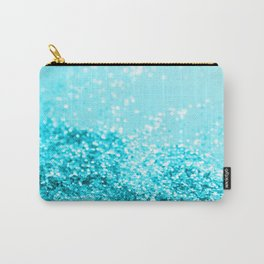 Aqua Blue Glitter #1 #shiny #decor #art #society6 Carry-All Pouch