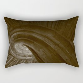 Sand stone spiral staircase 002 Rectangular Pillow