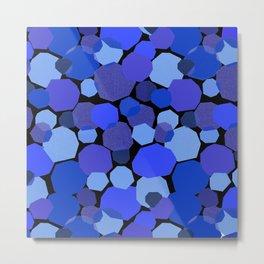 Blue Mica Metal Print