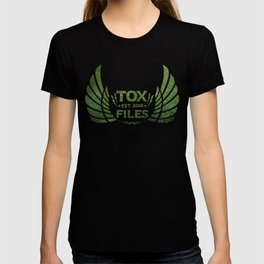Tox Files - Green on White T-shirt