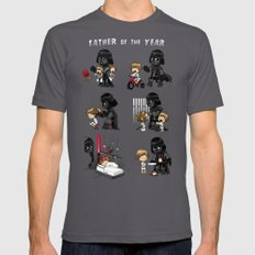Father of the Year Asphalt Mens Fitted Tee LARGE