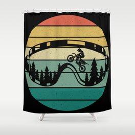 Retro Drive Motorcycle Rider Motocross Shower Curtain