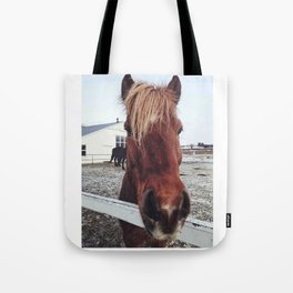 Brown horse face Tote Bag