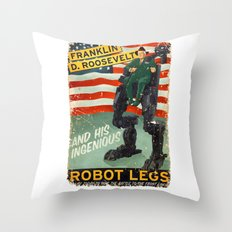 Franklin D. Roosevelt and his Amazing Robot Legs.... Throw Pillow