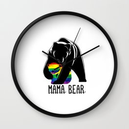 mama bear Wall Clock