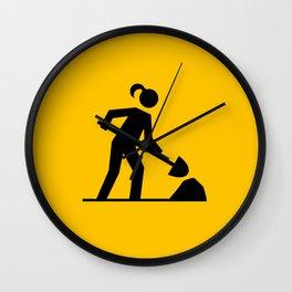 Workwoman Wall Clock