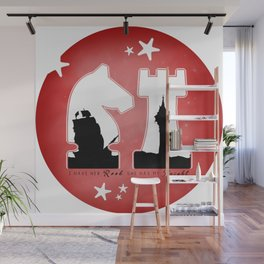 KNIGHT ROOK (Red) Wall Mural
