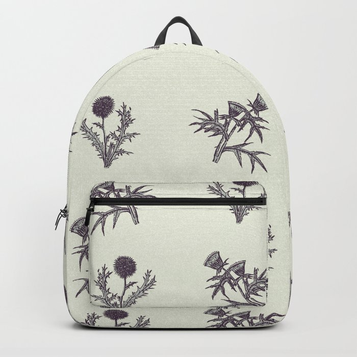 The thistle flowers Backpack