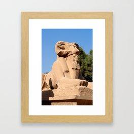 Ram-headed Sphinx in Karnak Framed Art Print