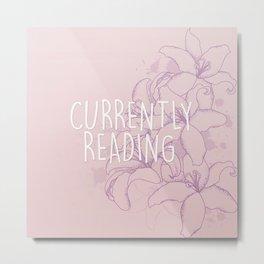 Currently Reading - Purple Metal Print