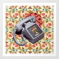 telephone Art Prints featuring Telephone by Oleg Borodin