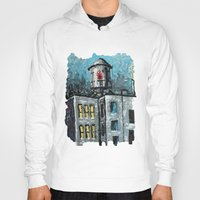 oil Hoodies featuring Oil Tower by creativebloch.com
