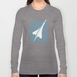 Concorde Supersonic Jet Airliner - Slate Long Sleeve T-shirt