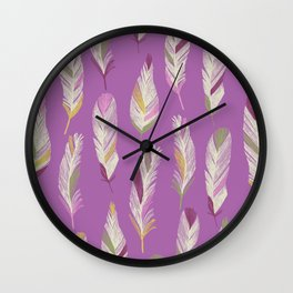 Tropical Feathers Wall Clock
