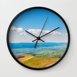 French rolling landscape hill mountain large panorama Wall Clock