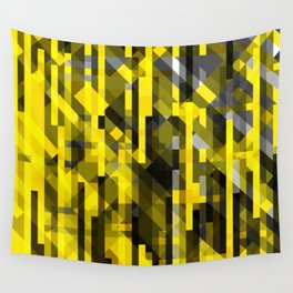 abstract composition in yellow and grays Wall Tapestry