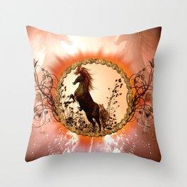 Wonderful horse Throw Pillow