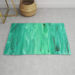 Green Abstract Rug