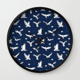 Owl Post - owl, owl mail, post, magic, wizard, story, literature, owls, Wall Clock