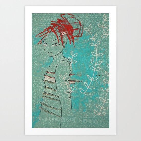 Doll (Vine) Art Print