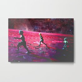 RUN on MARS Metal Print