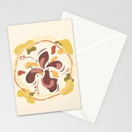 Flower beige brown illustration nature Stationery Cards