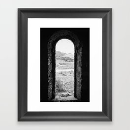Photography of an Old Train Station Framed Art Print