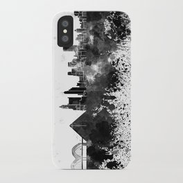 Memphis skyline in watercolor on white background iPhone Case