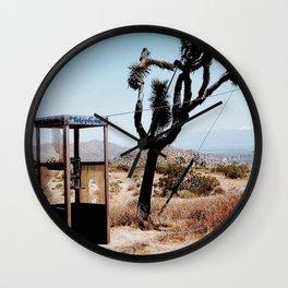 MOJAVE DESERT PHONE BOOTH Wall Clock
