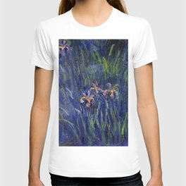 Irises No. 2 still life painting by Claude Monet T-shirt