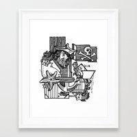 pirate Framed Art Prints featuring Pirate by María Nikólskaya