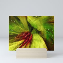 Abstract Red & Green Mini Art Print