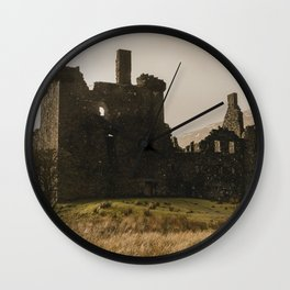 Golden hour at Kilchurn Castle Wall Clock