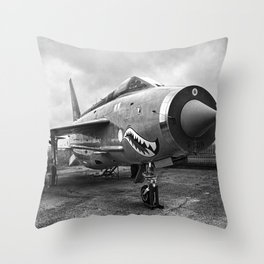 Lightning Under Stormy Skies Throw Pillow