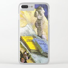 Plaster Statuette, a Rose and Two Novels by Vincent van Gogh - Vintage Painting Clear iPhone Case